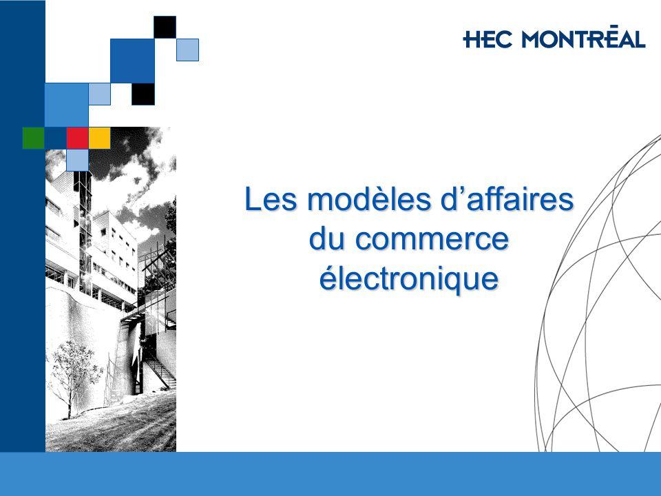 Les modèles daffaires du commerce électronique