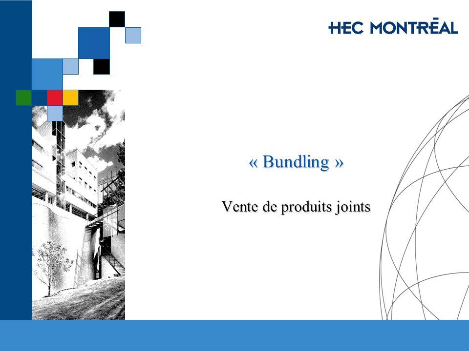 « Bundling » Vente de produits joints