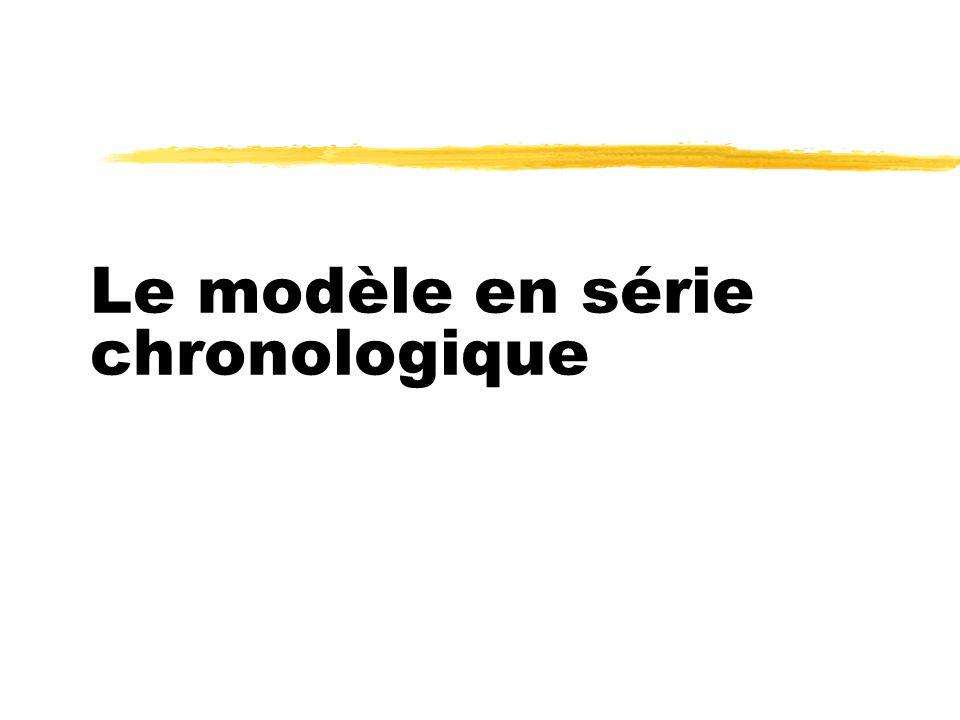 Le modèle en série chronologique