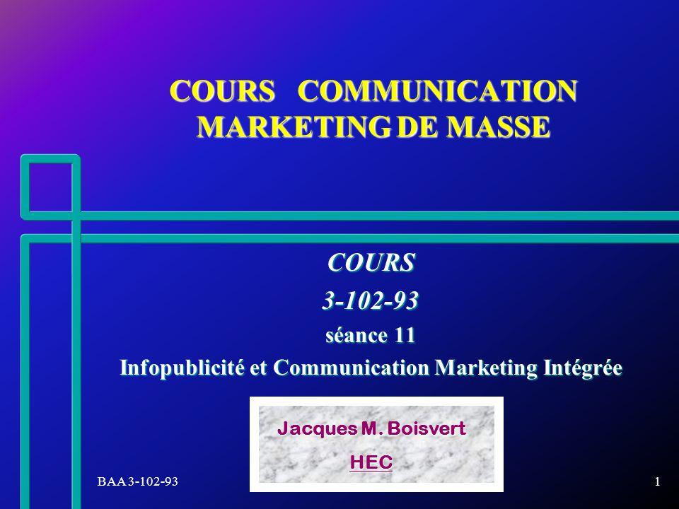 BAA 3-102-93Jacques M. Boisvert-HEC22