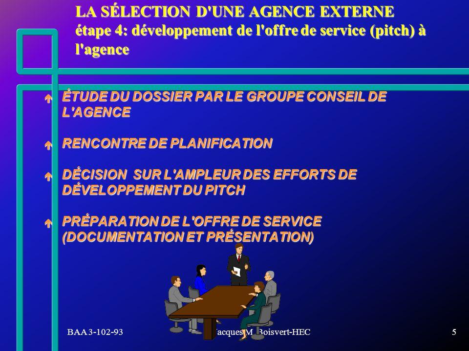 BAA 3-102-93Jacques M.Boisvert-HEC36 VOUS AVEZ REÇU: 50 QUESTIONS DE PRÉPARATION.