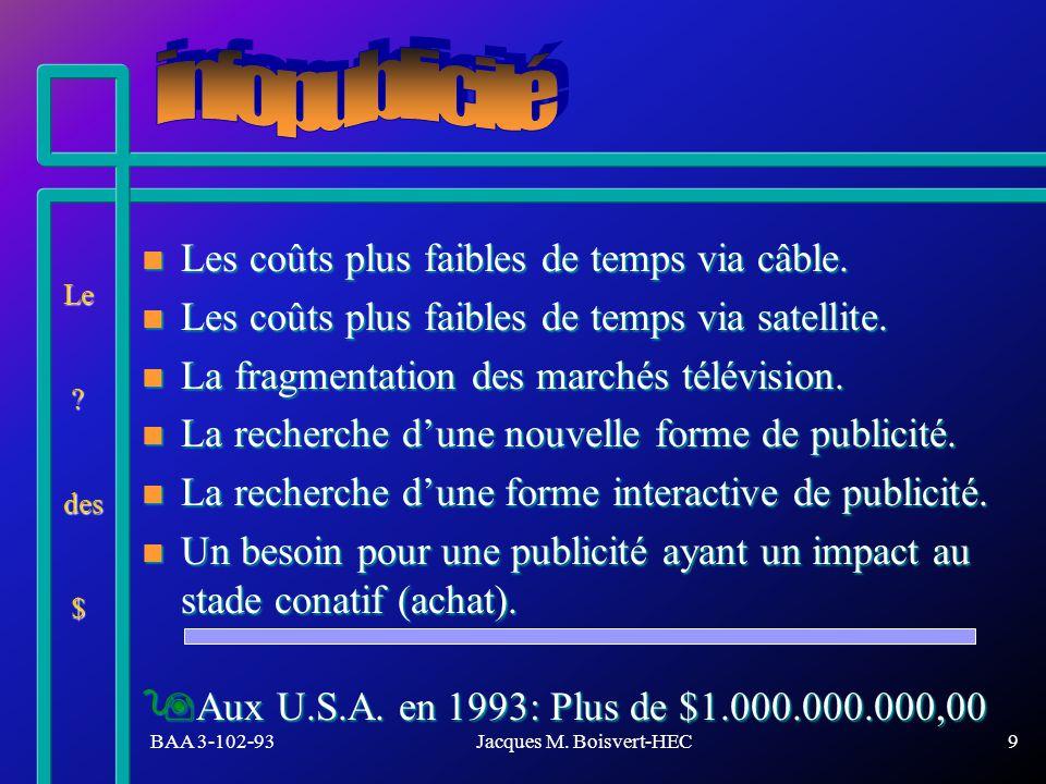 BAA 3-102-93Jacques M.Boisvert-HEC10 Échantillon:1005 h/f américaines de 18 ans et +.