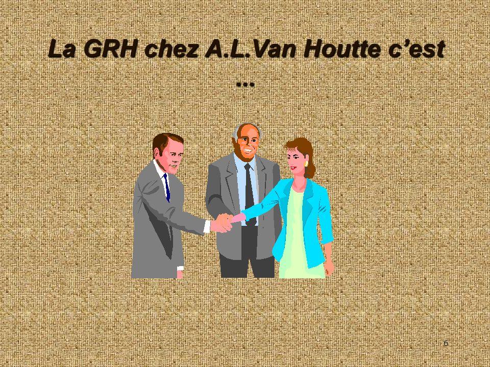 6 La GRH chez A.L.Van Houtte cest...