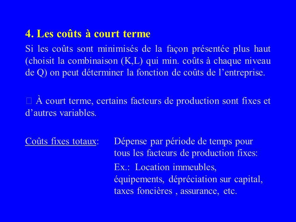 À court terme, si la hausse des commandes est perçue comme temporaire, la firme ne haussera pas son capital et produira Q=200 avec une combinaison (9,