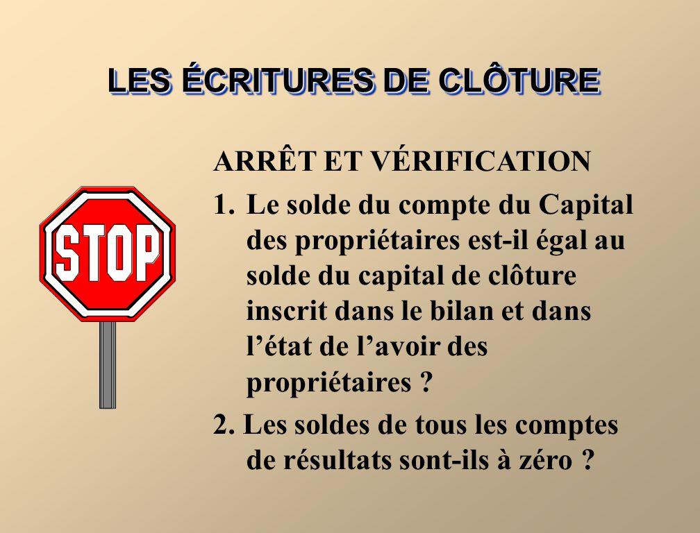 FIGURE 4-3 DIAGRAMME DU PROCESSUS DE CLÔTURE 3.Débitez le Capital des propriétaires du solde du compte Prélèvements des propriétaires et créditez le c