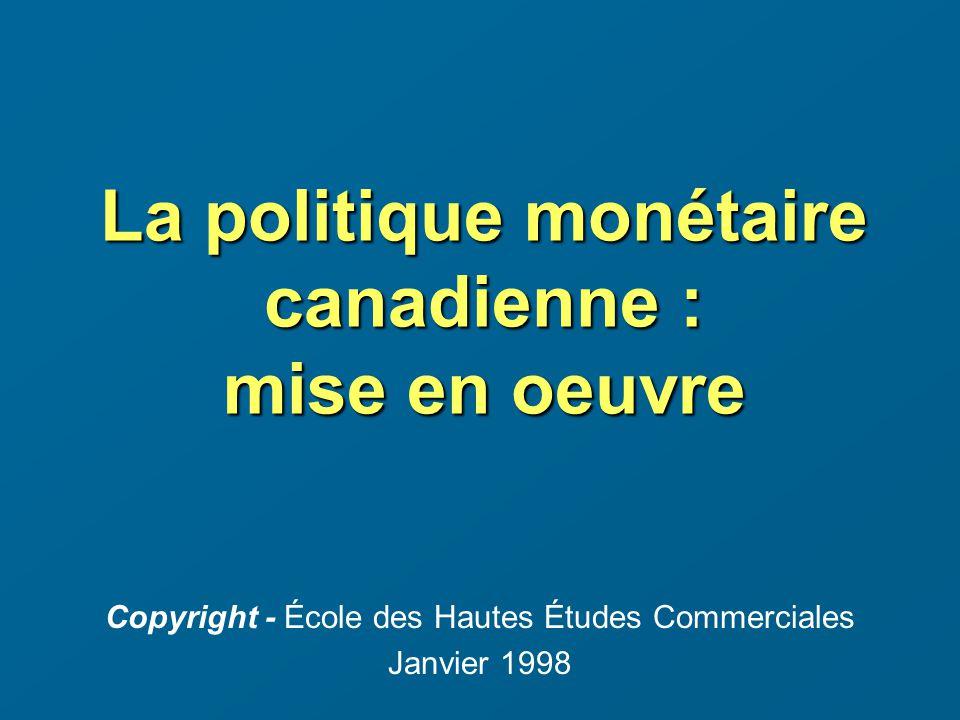Exemple 1: Lopération de prise en pension Dans le cas dune prise en pension, la Banque du Canada offre aux courtiers en valeurs de leur prêter des fonds pour une période de 24 heures à un taux inférieur au taux courant du marché à un jour.