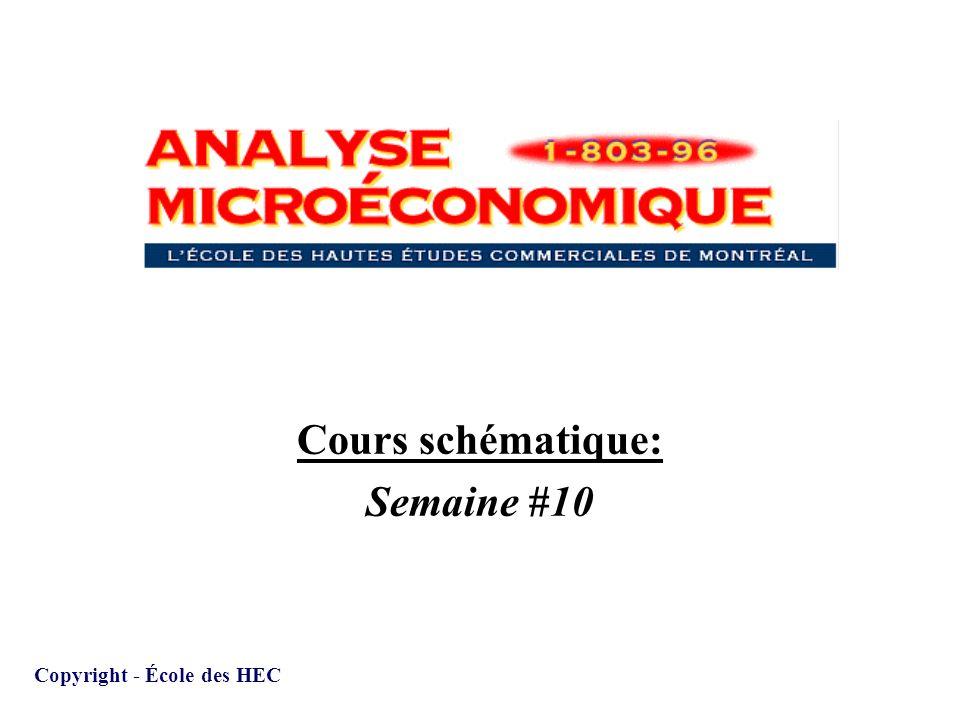 Cours schématique: Semaine #10 Copyright - École des HEC