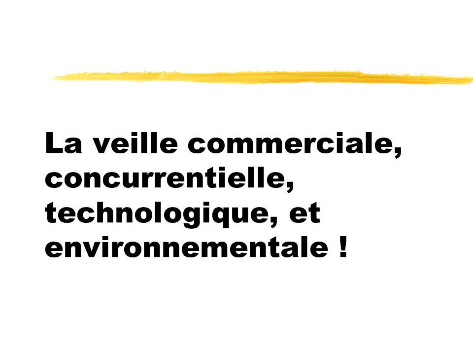 La veille commerciale, concurrentielle, technologique, et environnementale !