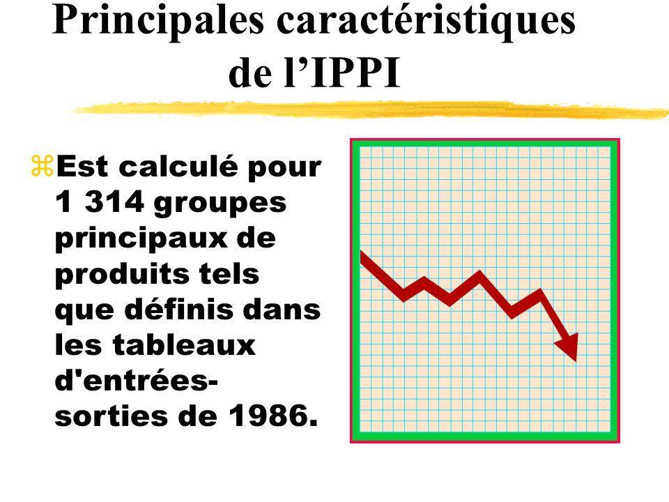 zEst calculé pour 1 314 groupes principaux de produits tels que définis dans les tableaux d entrées- sorties de 1986.