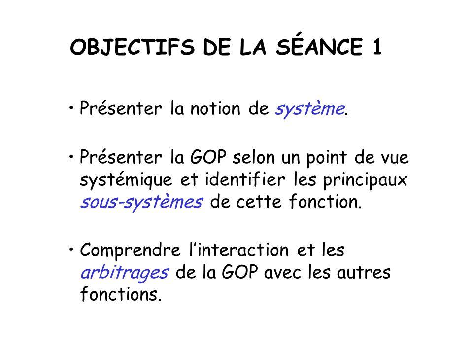 LIMPORTANCE DE LA GOP et LAPPROCHE SYSTÉMIQUE séance P1 GOP