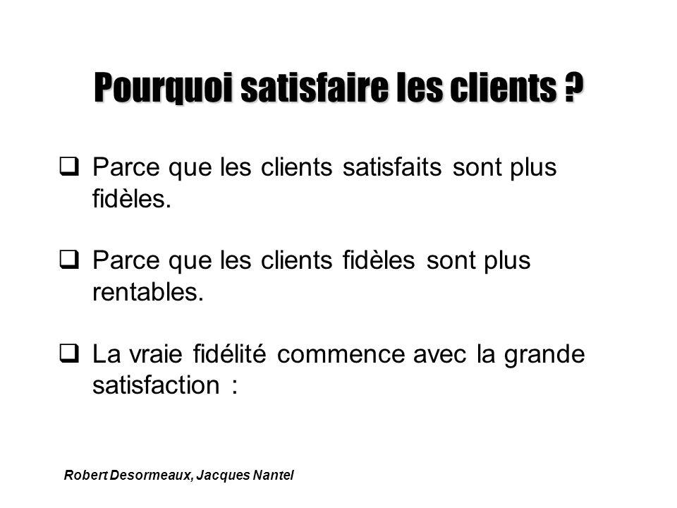 Pourquoi satisfaire les clients .qParce que les clients satisfaits sont plus fidèles.