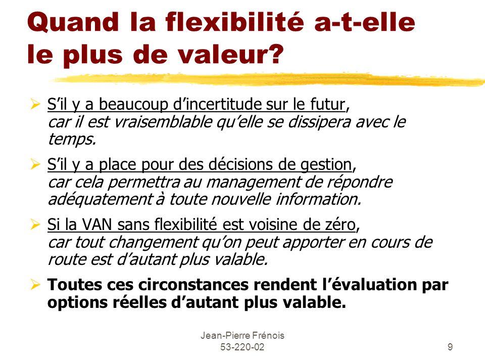 Jean-Pierre Frénois 53-220-029 Quand la flexibilité a-t-elle le plus de valeur.