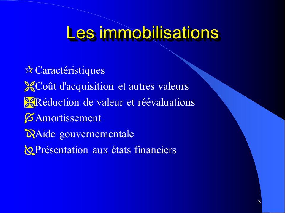 13 Valeur de réalisation nette estimative d une immobilisation à la fin de sa durée de vie utile pour l entreprise Valeur résiduelle Valeur résiduelle Définition: