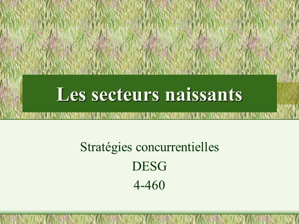 Les secteurs naissants Stratégies concurrentielles DESG 4-460