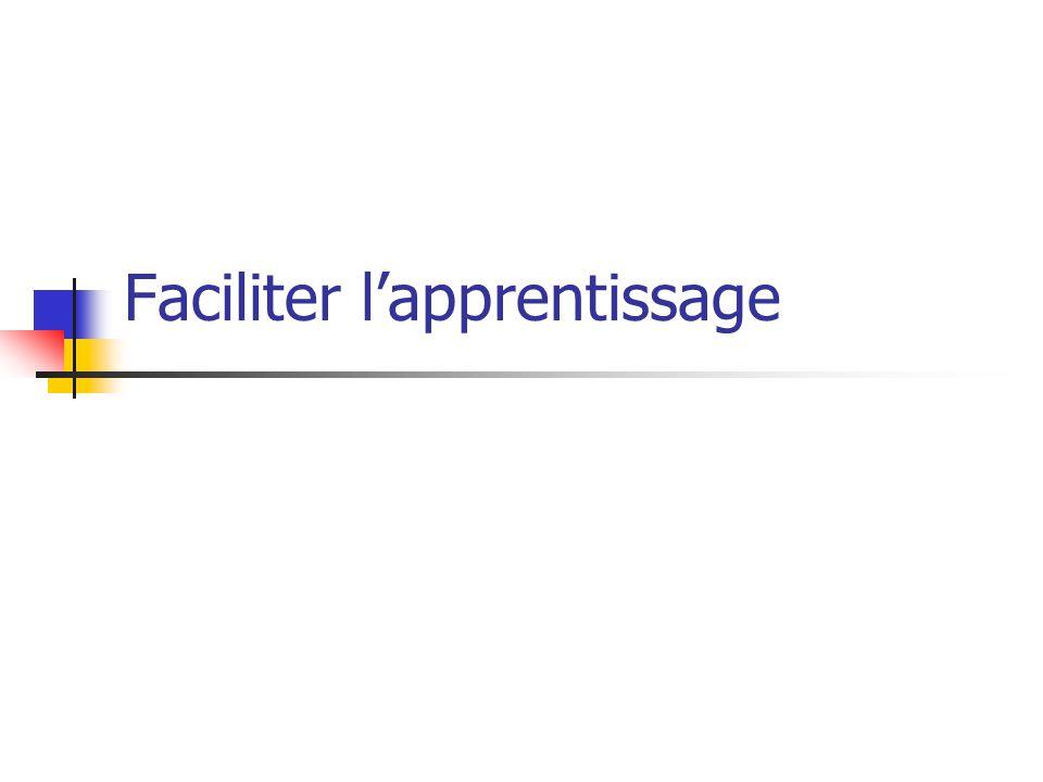 Faciliter lapprentissage