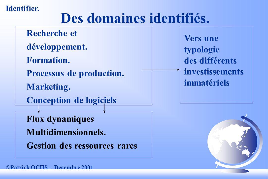 ©Patrick OCHS - Décembre 2001 Des domaines identifiés.
