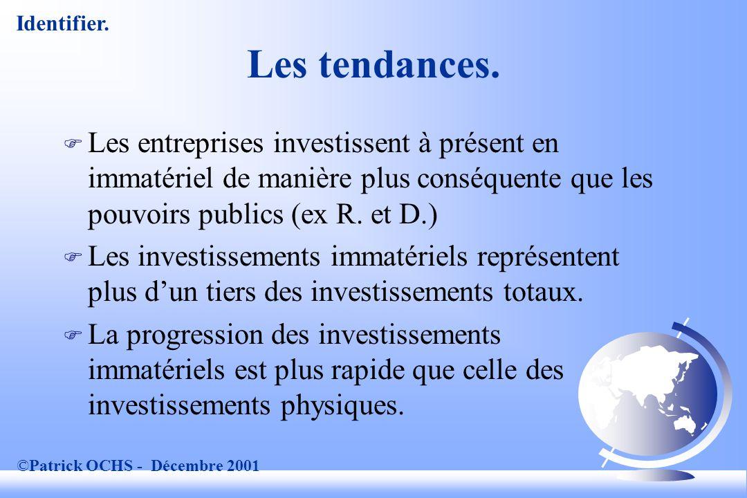 ©Patrick OCHS - Décembre 2001 Les tendances.