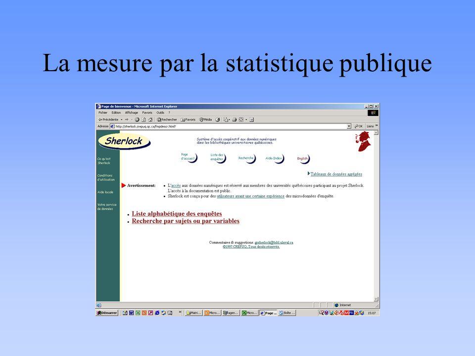 La mesure par la statistique publique
