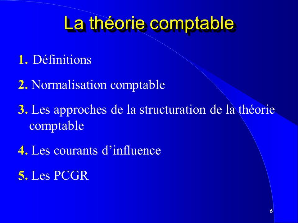 5 Formulation de la théorie comptable Andrée Lafortune, professeure agrégée Louise Martel, professeure agrégée, associée universitaire KPMG