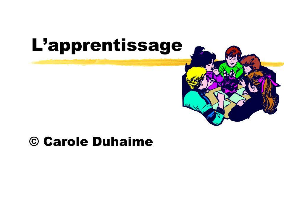 Lapprentissage © Carole Duhaime