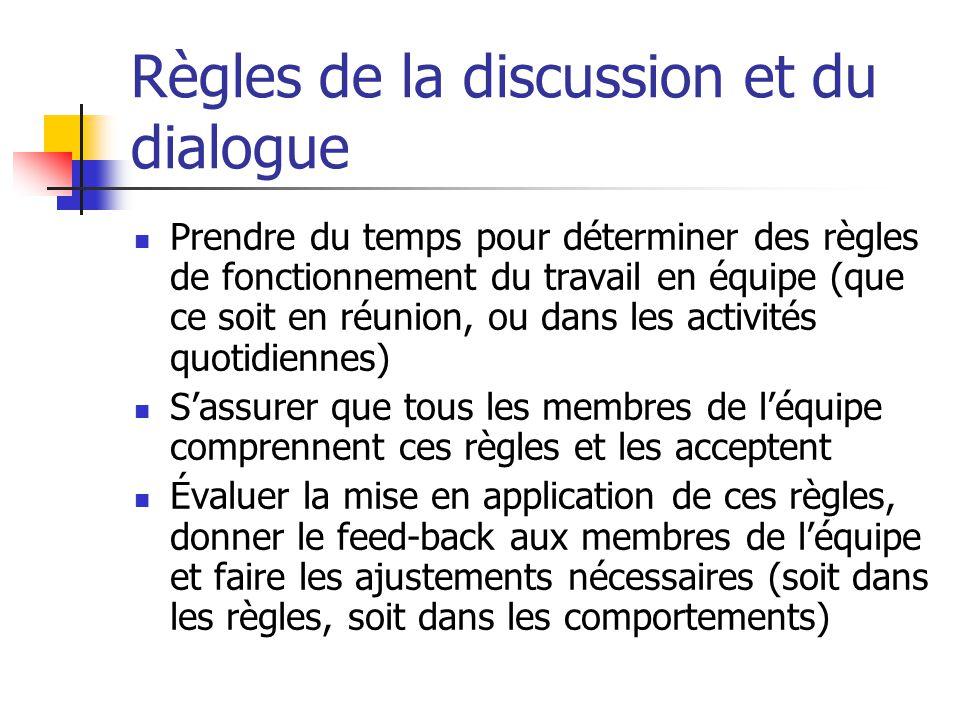 Obstacles à la communication Évitement : Ignorer une partie importante du message Dévier le sujet Détourner vers soi : se citer en exemple