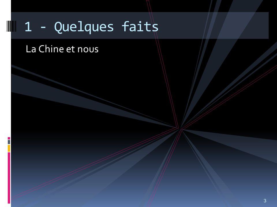 La Chine et nous 3 1 - Quelques faits