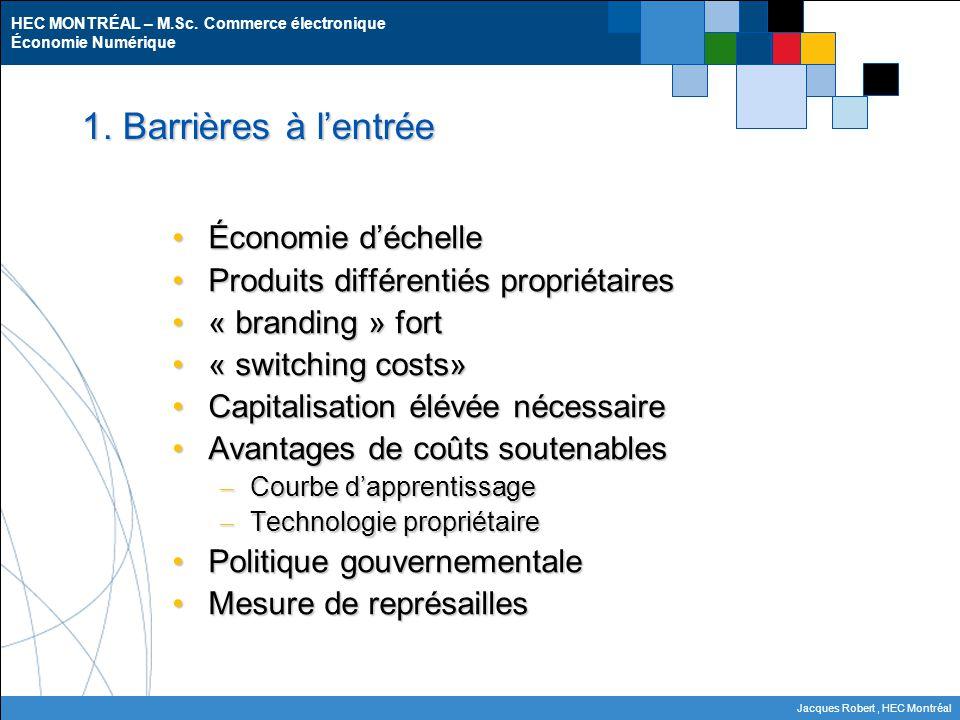 HEC MONTRÉAL – M.Sc.Commerce électronique Économie Numérique Jacques Robert, HEC Montréal 2.