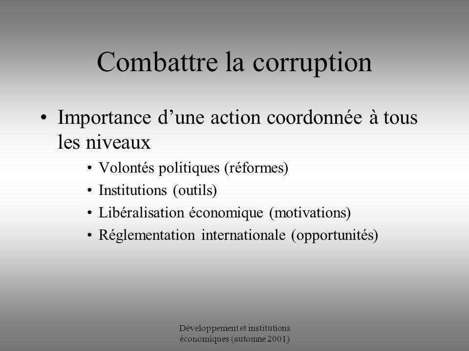 Développement et institutions économiques (automne 2001) d + n s k S f(k) Piège de la pauvreté