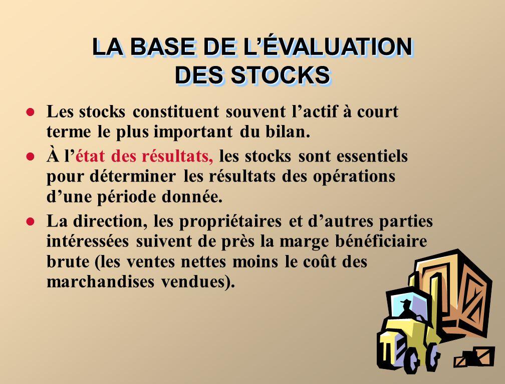 Les stocks constituent souvent lactif à court terme le plus important du bilan.