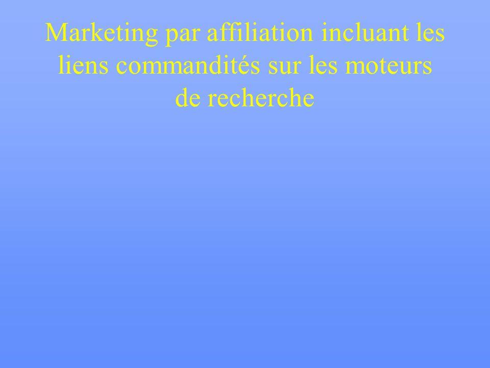 Marketing par affiliation incluant les liens commandités sur les moteurs de recherche