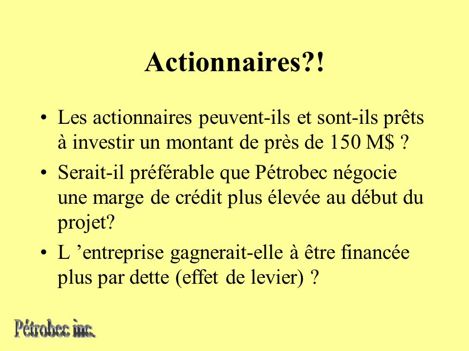 Actionnaires .