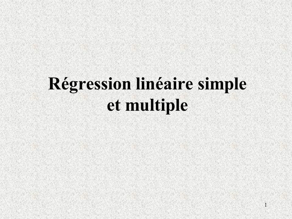 1 Régression linéaire simple et multiple