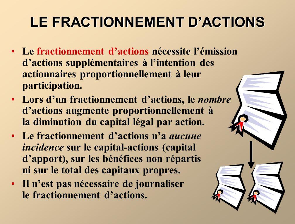 LA PRÉSENTATION DE LINFORMATION SUPPLÉMENTAIRE RELATIVE AU BÉNÉFICE PAR ACTION Lorsque létat des résultats comprend un élément inhabituel, on présente le résultat par action se rapportant à chaque composante.