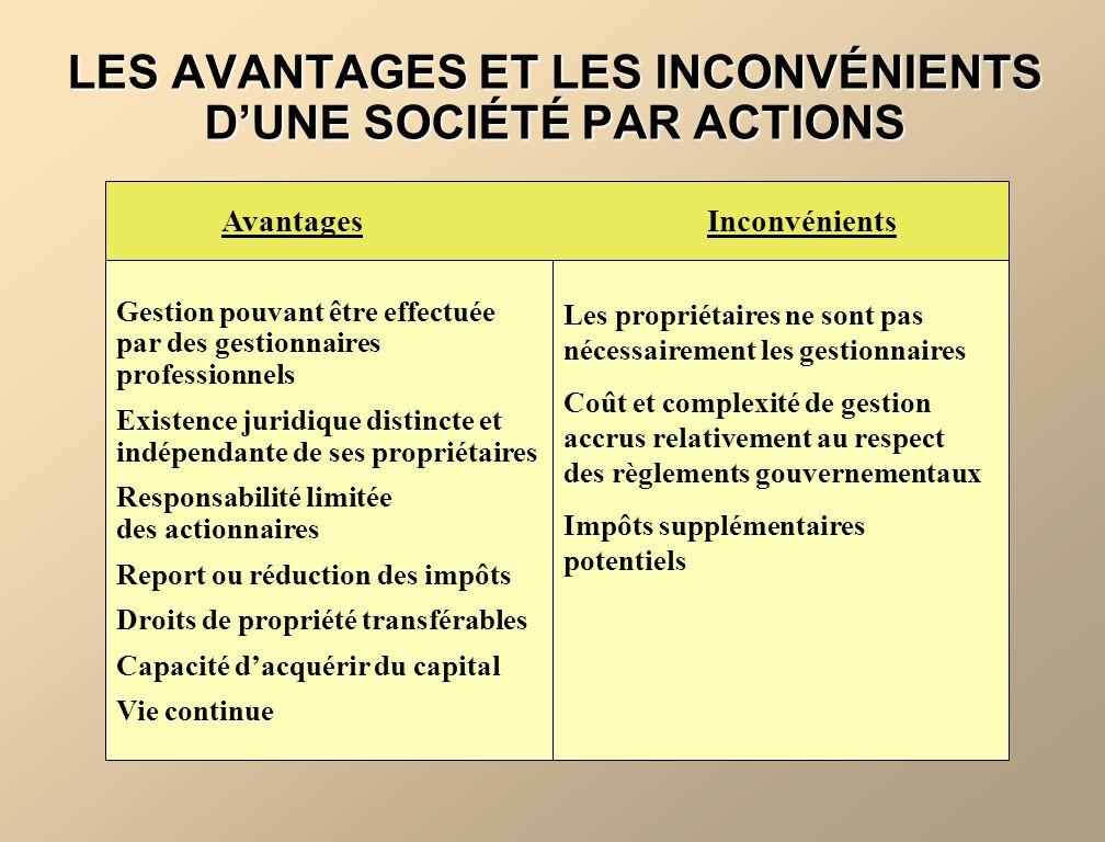 LES ACTIONS PRIVILÉGIÉES CONVERTIBLES Lactionnaire peut convertir ses actions privilégiées convertibles en actions ordinaires selon un ratio précisé davance.