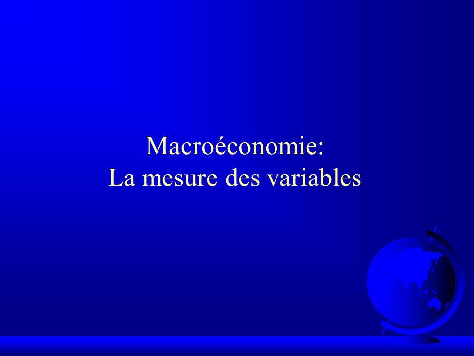 Macroéconomie: La mesure des variables