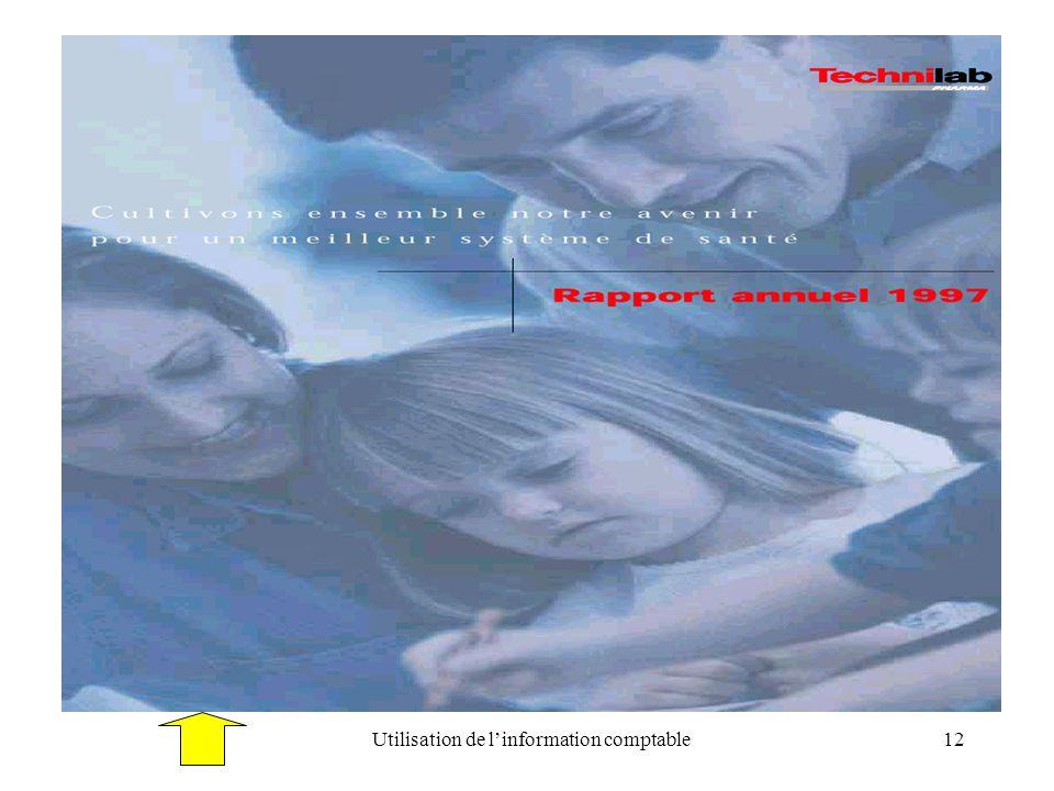 Utilisation de linformation comptable12