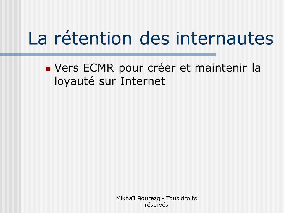 Mikhaïl Bourezg - Tous droits réservés La rétention des internautes Vers ECMR pour créer et maintenir la loyauté sur Internet