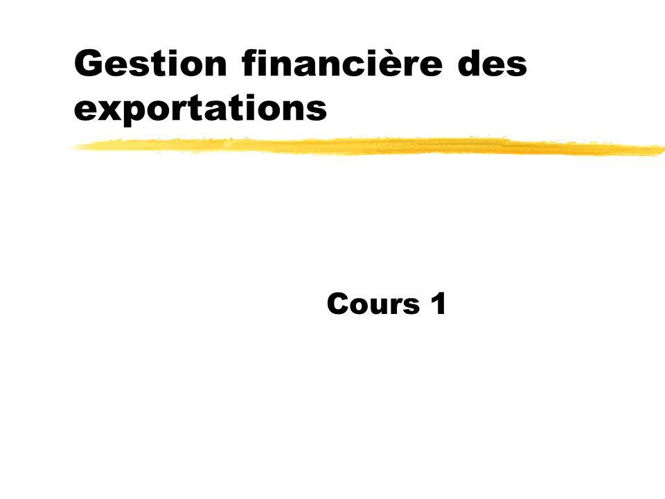 Gestion financière des exportations Cours 1