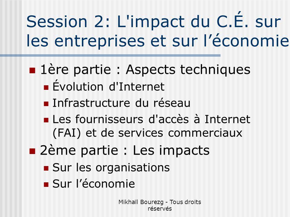Mikhaïl Bourezg - Tous droits réservés Session 2: L impact du C.É.