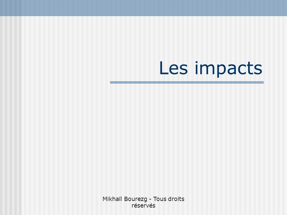 Mikhaïl Bourezg - Tous droits réservés Les impacts