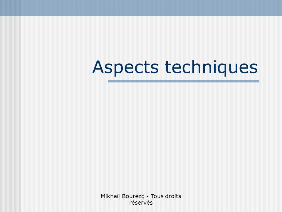 Mikhaïl Bourezg - Tous droits réservés Aspects techniques