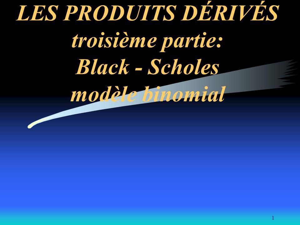 1 LES PRODUITS DÉRIVÉS troisième partie: Black - Scholes modèle binomial