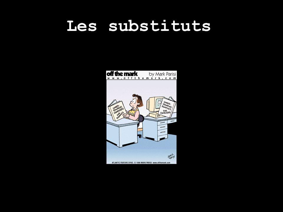 Les substituts