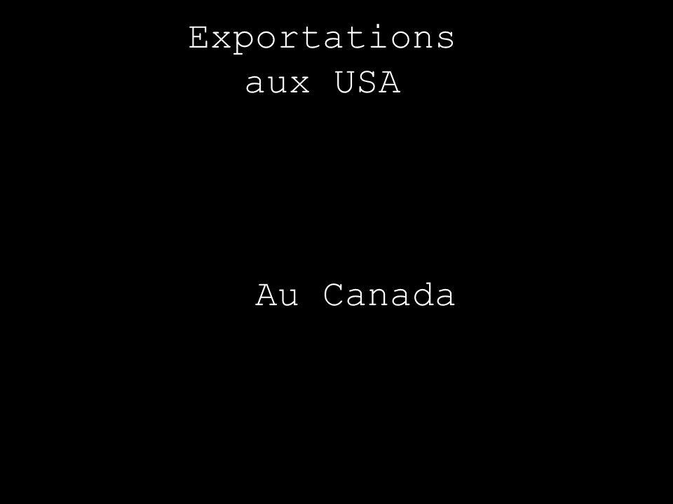 Exportations aux USA Au Canada