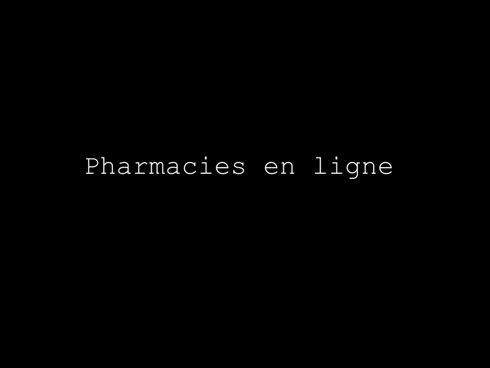 Pharmacies en ligne