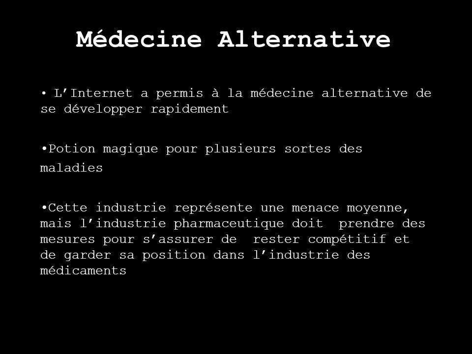 Médecine Alternative LInternet a permis à la médecine alternative de se développer rapidement Potion magique pour plusieurs sortes des maladies Cette