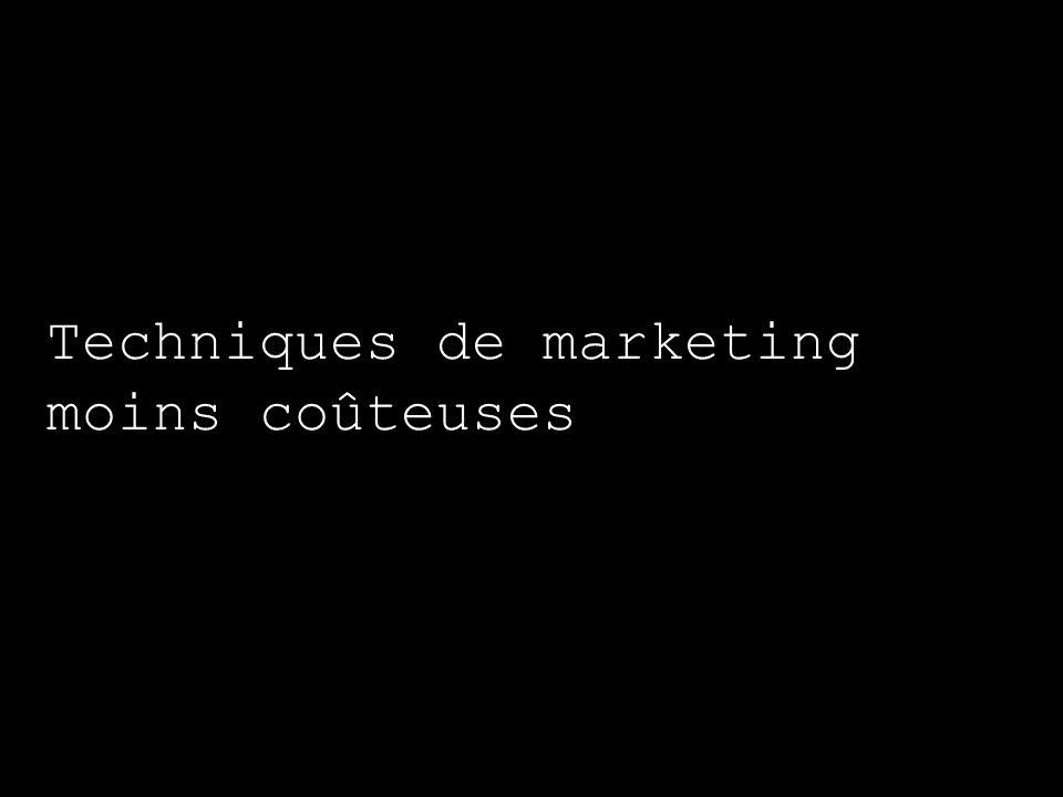 Techniques de marketing moins coûteuses