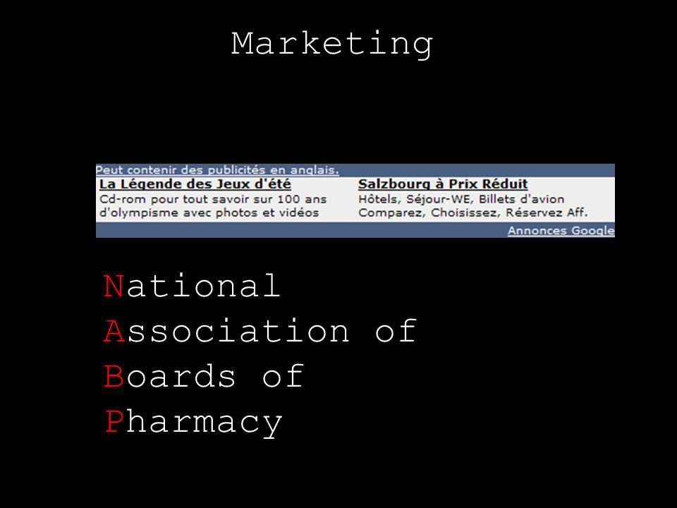 Marketing National Association of Boards of Pharmacy