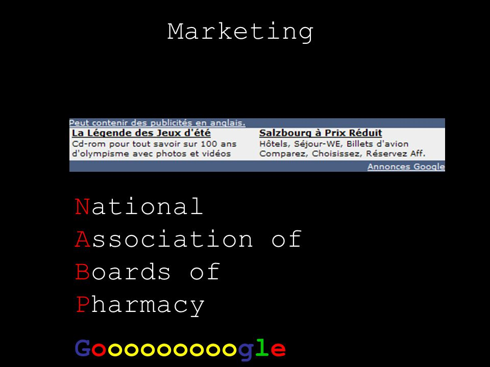 Marketing Gooooooooogle National Association of Boards of Pharmacy