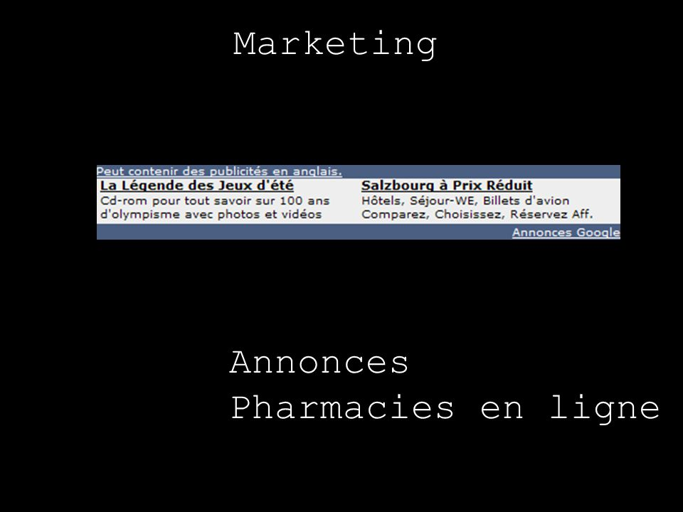Marketing Annonces Pharmacies en ligne